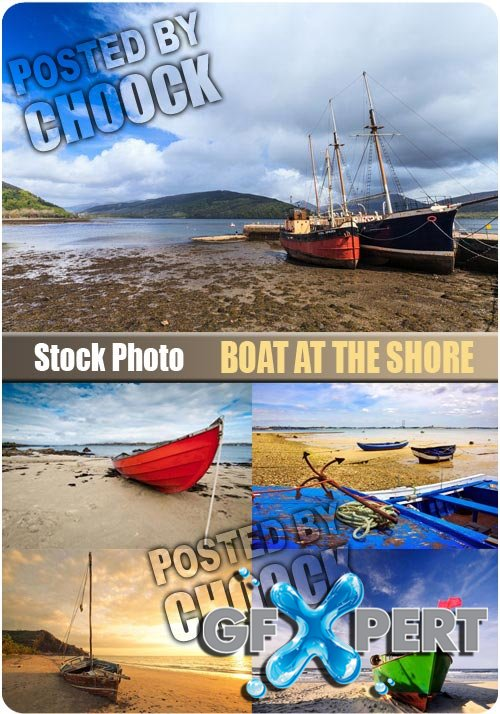 Boat at the shore - Stock Photo