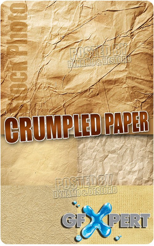 Crumpled paper - UHQ Stock Photo