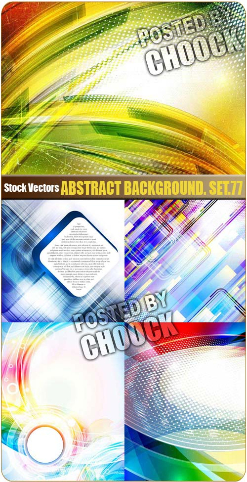 Abstract background. Set.77 - Stock Vector