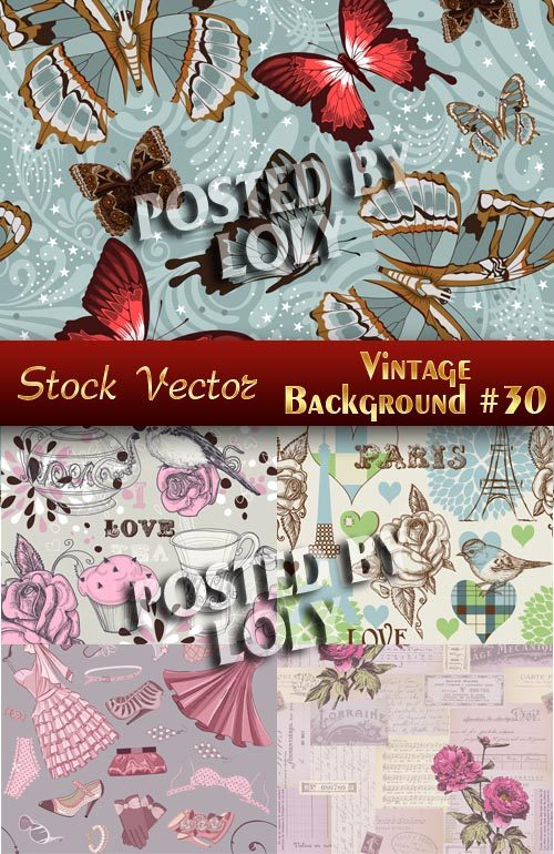 Vintage backgrounds #30 - Stock Vector