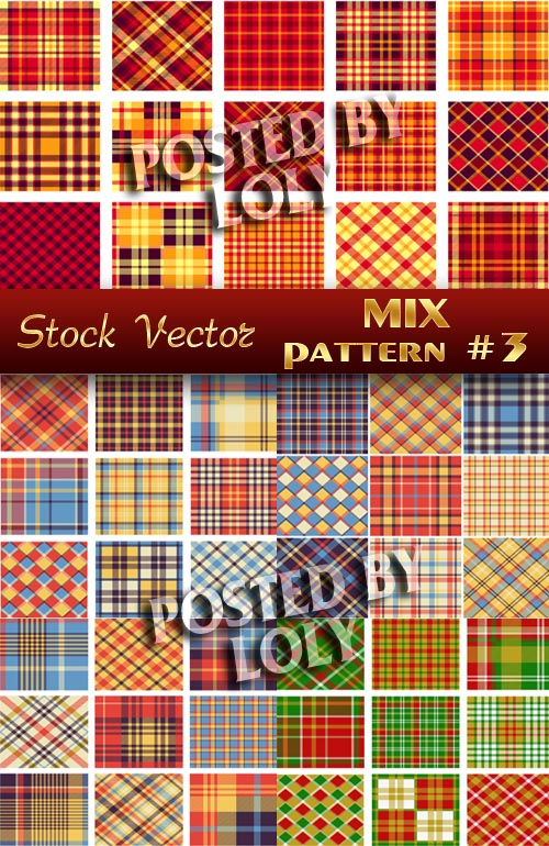 Mix Patterns # 3 - Stock Vector