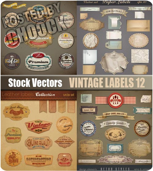 Vintage labels 12 - Stock Vector