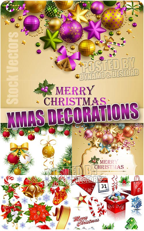Xmas decorations - Stock Vectors