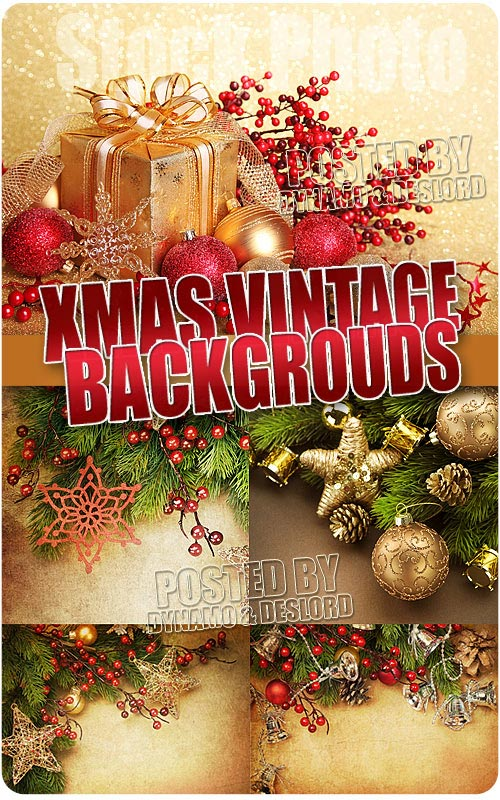 Xmas Vintage Backgrouds - UHQ Stock Photo