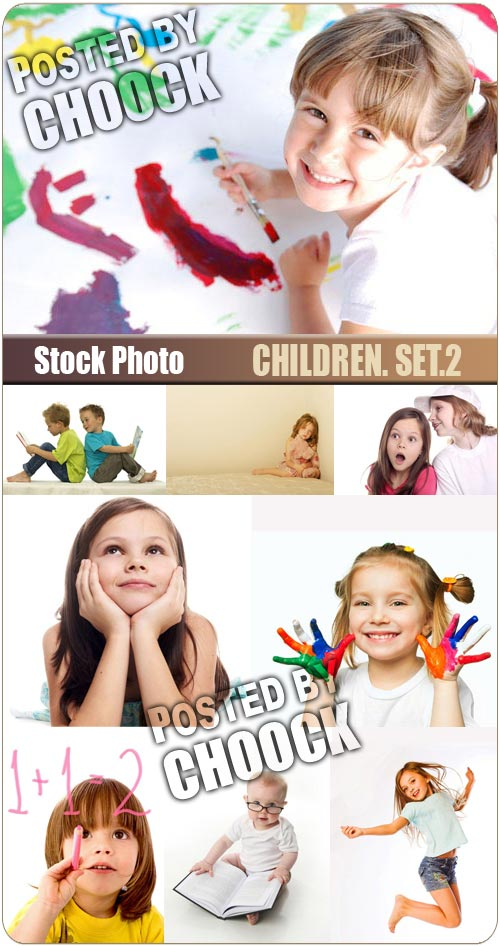 Children. Set.2 - Stock Photo