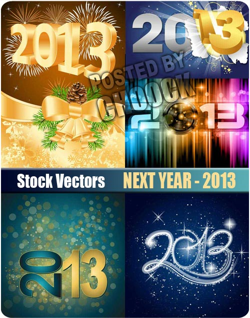 Next year - 2013 - Stock Vector