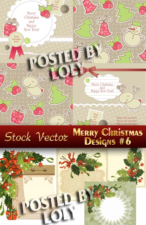 Merry Christmas Designs #6 - Stock Vector