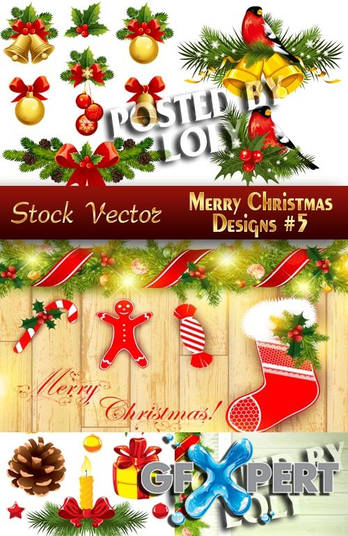 Merry Christmas Designs #5 - Stock Vector