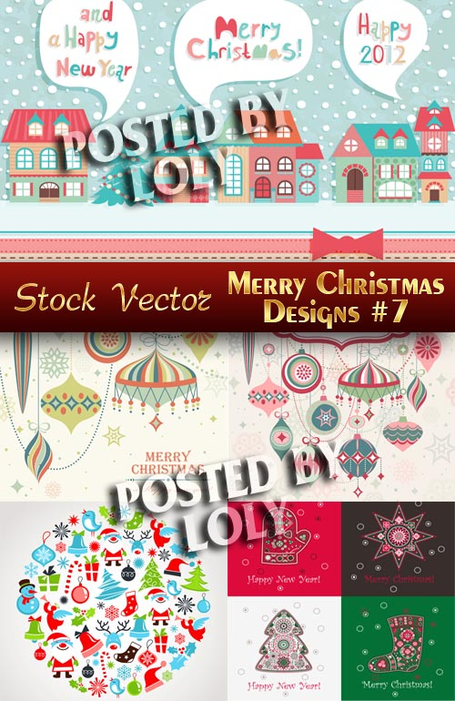 Merry Christmas Designs #7 - Stock Vector