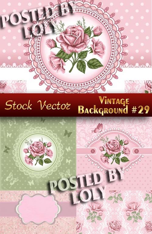 Vintage backgrounds #29 - Stock Vector
