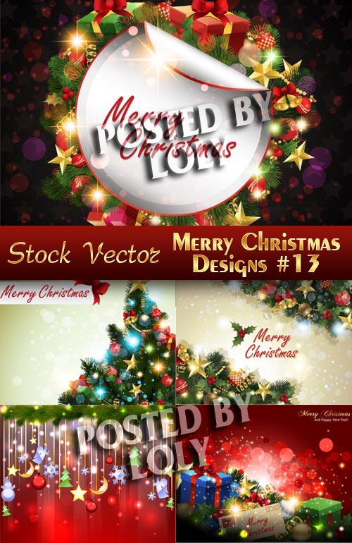 Merry Christmas Designs #8 - Stock Vector