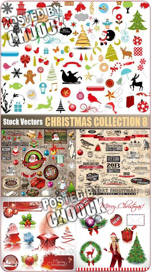 Christmas collection 8 - Stock Vector
