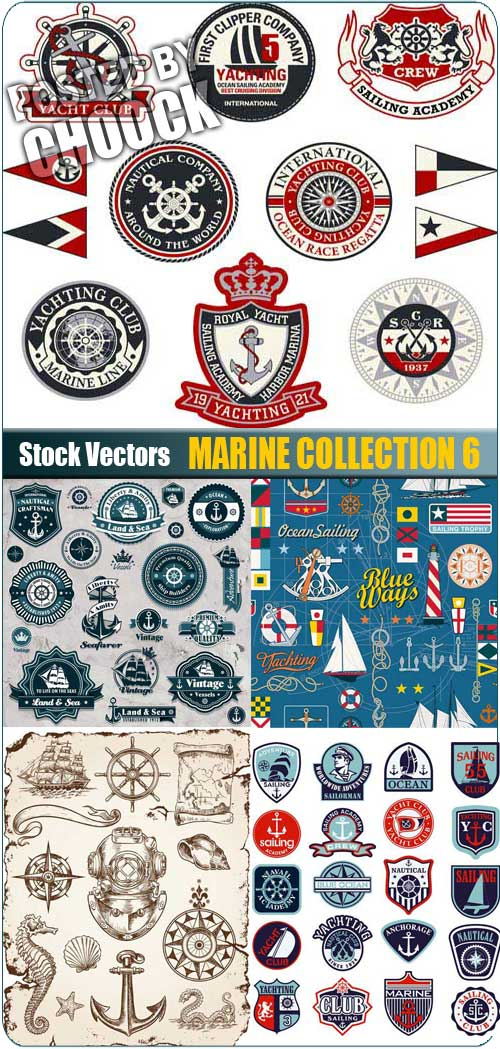 Marine collection 6 - Stock Vector