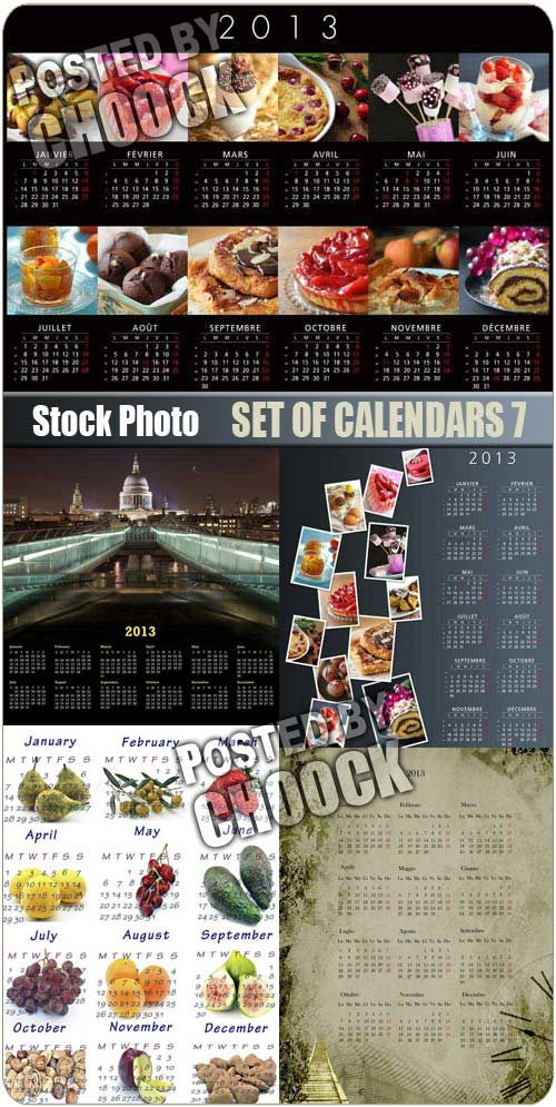 Set of calendars 7 - Stock Photo