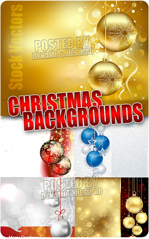 Christmas Balls on backgrounds - Stock Vectors