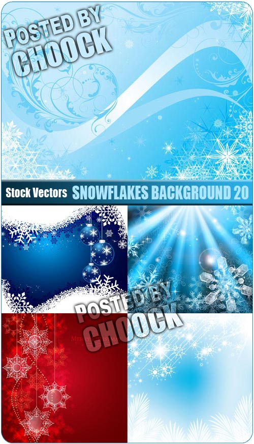 Snowflakes background 20 - Stock Vector