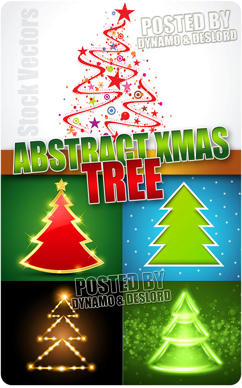 Abstract christmas tree - Stock Vectors