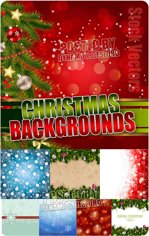 Different Xmas backgrounds - Stock Vectors