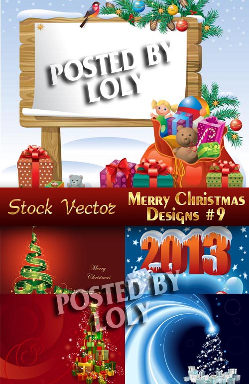 Merry Christmas Designs #9 - Stock Vector