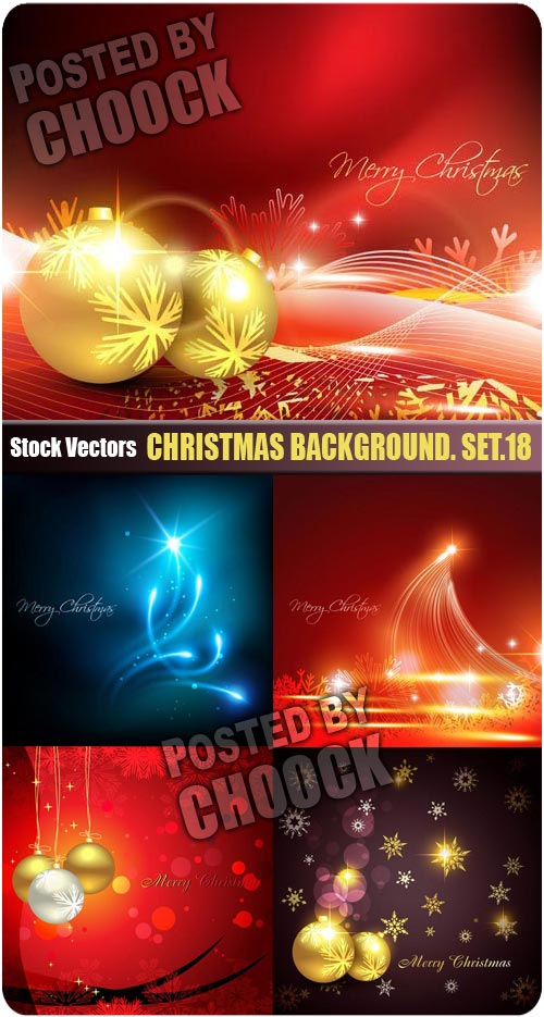 Christmas background. Set.18 - Stock Vector