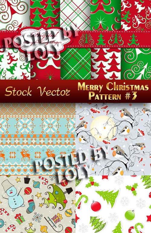 Christmas patterns #3 - Stock Vector