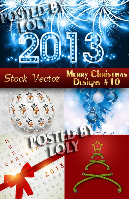Merry Christmas Designs #10 - Stock Vector