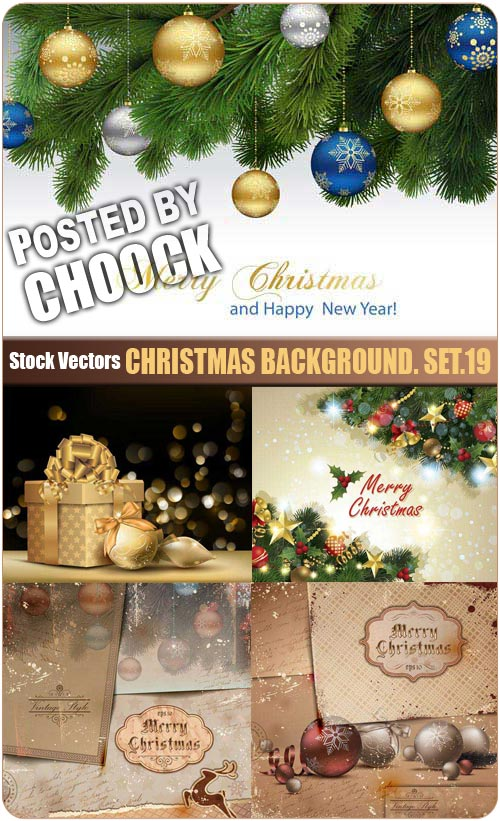 Christmas background. Set.19 - Stock Vector