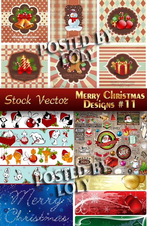 Merry Christmas Designs #11 - Stock Vector