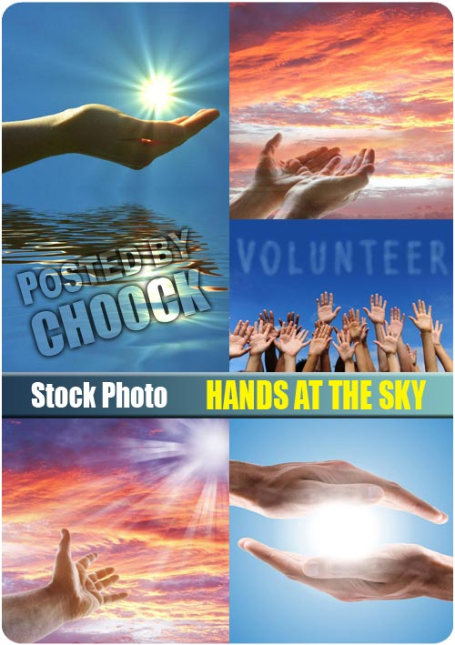 Hands at the sky - Stock Photo