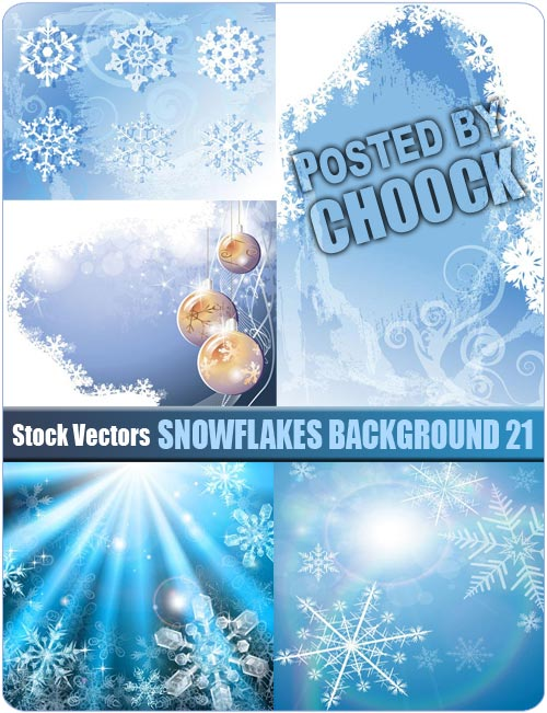 Snowflakes background 21 - Stock Vector