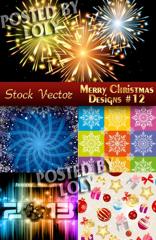 Merry Christmas Designs #12 - Stock Vector