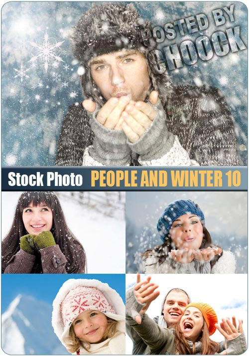 People and winter 10 - Stock Photo