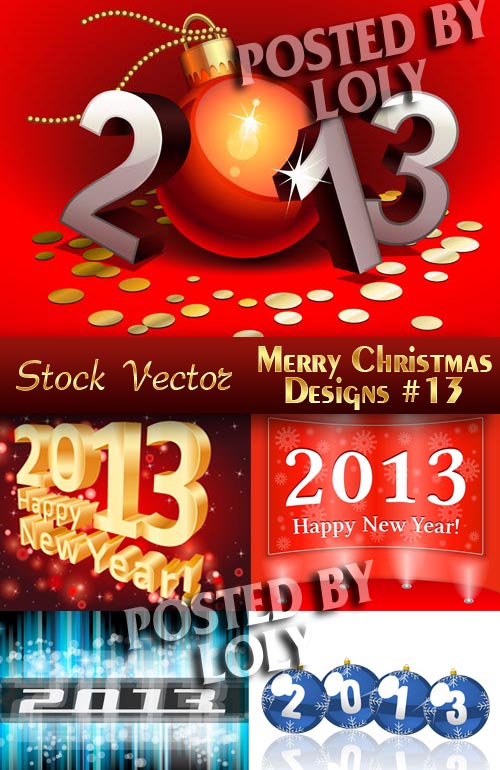Merry Christmas Designs #13 - Stock Vector