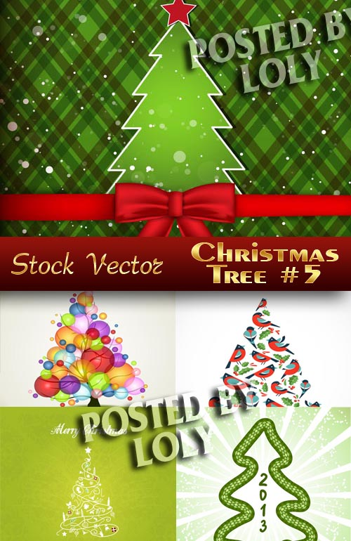 Christmas tree #5 - Stock Vector