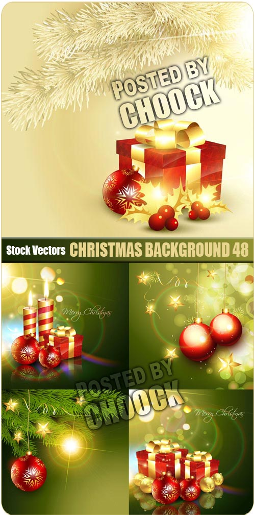 Christmas background 48 - Stock Vector