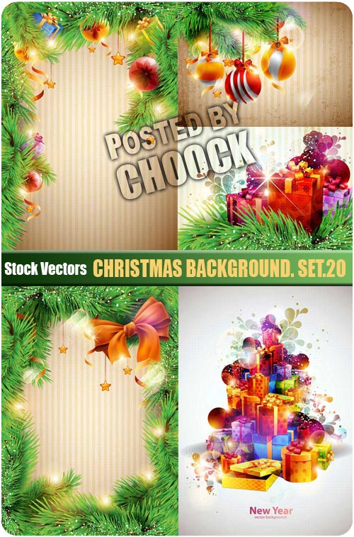 Christmas background. Set.20 - Stock Vector