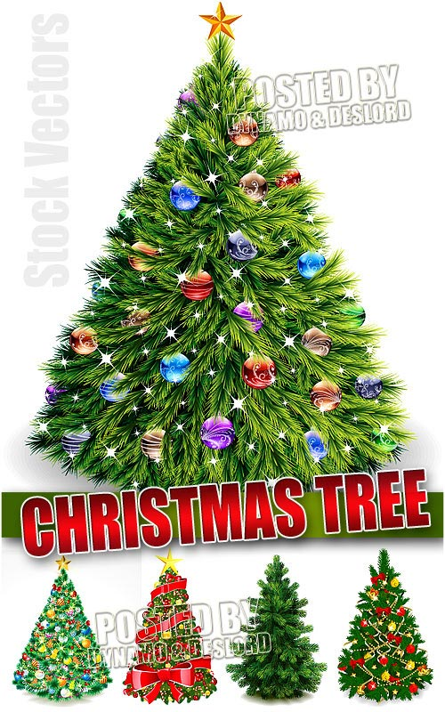 Realistic Christmas tree - Stock Vectors