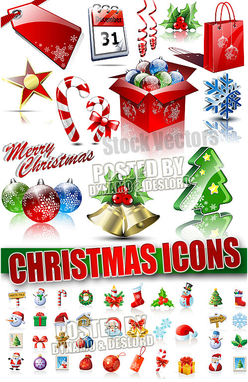 Christmas icons  - Stock Vectors