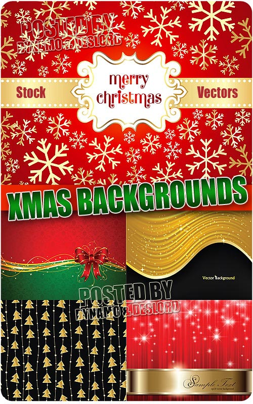 Xmas backgrounds 3 - Stock Vectors