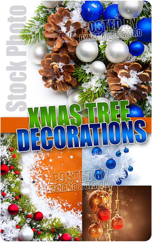 Xmas tree decorations - UHQ Stock Photo