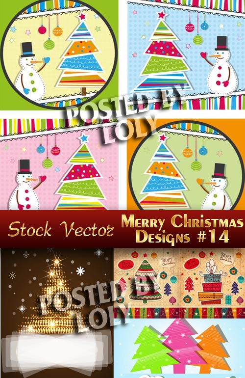 Merry Christmas Designs #14 - Stock Vector