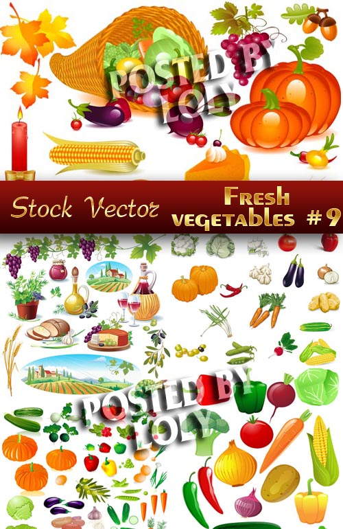 Fresh vegetables #9 - Stock Vector