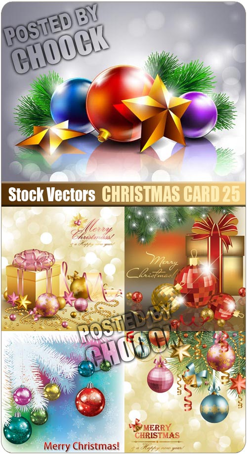 Christmas card 25 - Stock Vector