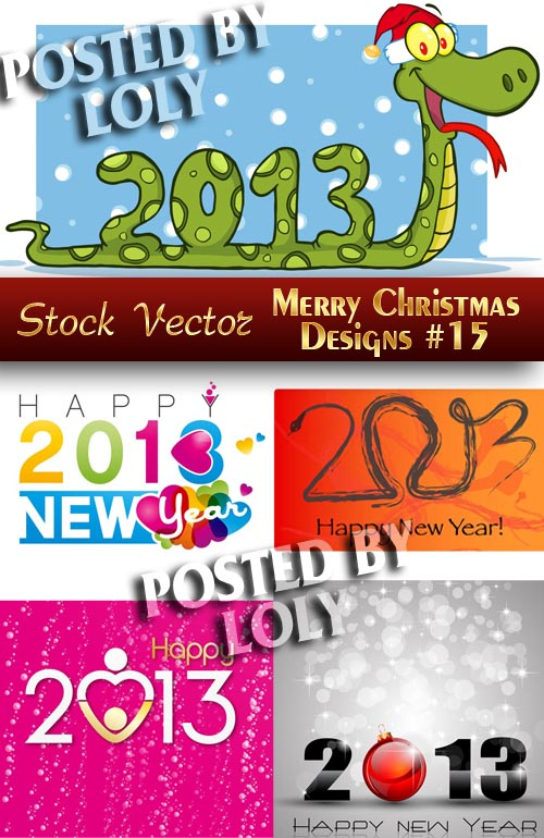 Merry Christmas Designs #15 - Stock Vector