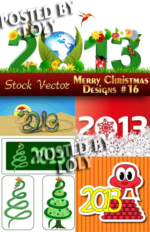 Merry Christmas Designs #16 - Stock Vector