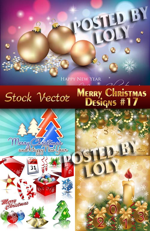 Merry Christmas Designs #17 - Stock Vector