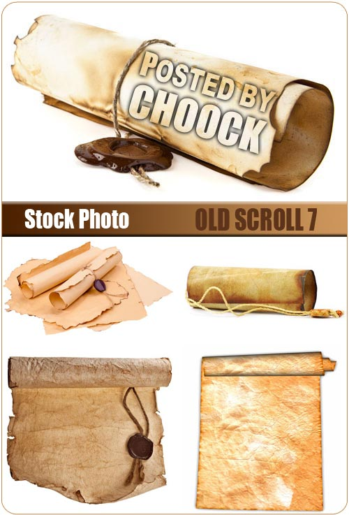 Old scroll 7 - Stock Photo