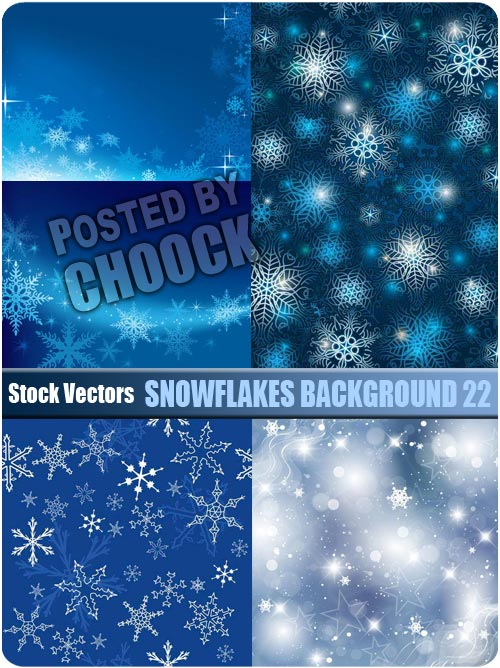 Snowflakes background 22 - Stock Vector