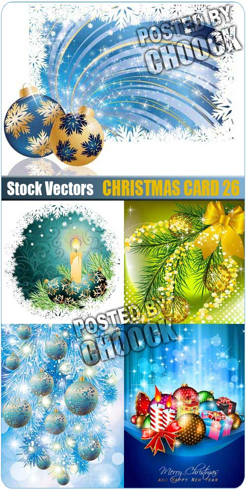 Christmas card 26 - Stock Vector