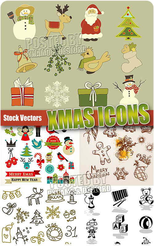 Xmas icons 2 - Stock Vectors